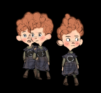 Brave Triplets Visual Development Art