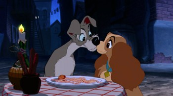 Spaghetti Kiss Lady and the Tramp