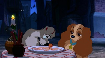 Tramp Shares Meatball Lady and the Tramp