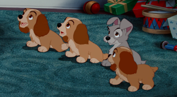 Disney Baby Lady and Tramp's puppies