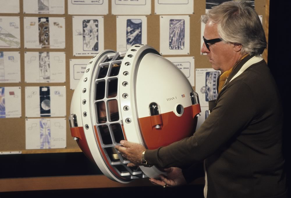 Ray Bradbury with Epcot Space Pavillion