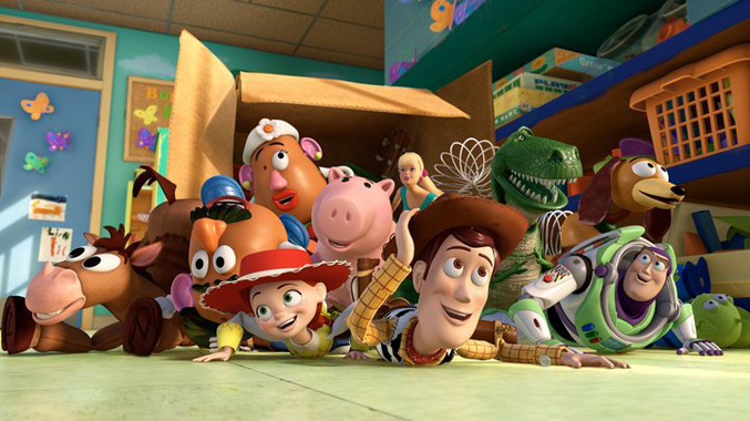 Pixar film, Woody in Toy Story
